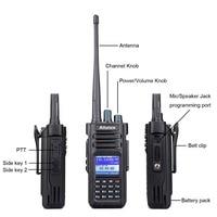 מכשיר הקשר RETEVIS Ailunce HD1 Dual Band DMR דיגיטלי מכשיר הקשר (GPS) 10W VHF UHF IP67 תחנת רדיו חובב Ham Waterproof אביזרים + (3)