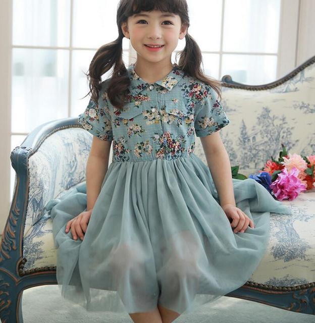 fb06055cf 2017 Baby Girls Elegant Dazzel Mesh Summer Dresses