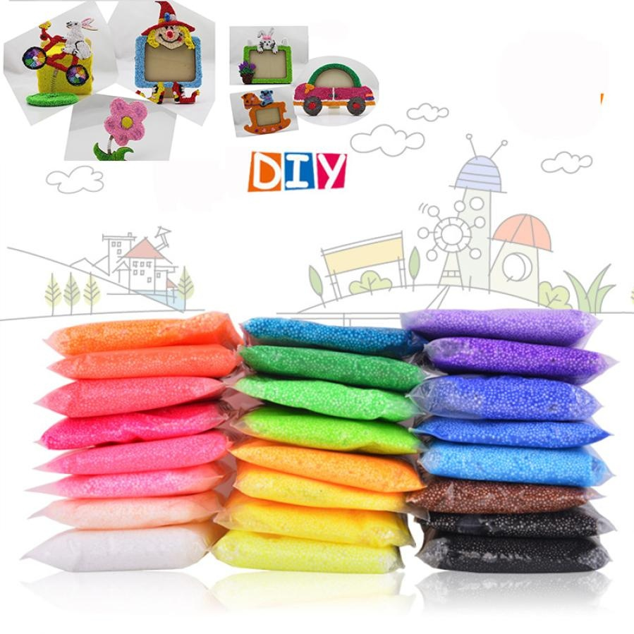 5g Novidades Color Snow Mud Fluffy Floam Slime Anti-Stress Toy DIY Novelty Puzzle Bead Slime Toy Sludge Mud Toy Light Clay