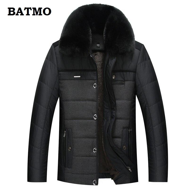 BATMO 2018 new arrival winter warm liner casual   parkas   men,men's winter warm jackets ,winter coat men plus-size XL-5XL 1908