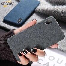 2018 New KISSCASE чехол на айфон 7 8 6S 6 Plus X XS Max XR Case Ткань текстуры чехол для iPhone X XS Max 6 6S 7 8 Plus ультра тонкий чехлы Телефон для iPhone 7 6S 6 Plus 10 Аксессуары
