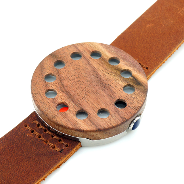 Zegarek drewniany oryginalny 12 Holes
