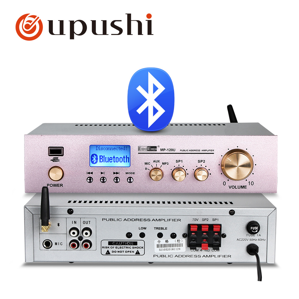 120w Home Amplifiers Audio bluetooth Amplifier Subwoofer Amplifier Home Theater Sound System Oupushi Mini Amplifier Professional