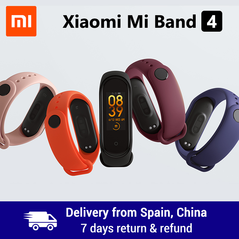 Xiao mi mi Band 4 Smart Band 0,95 zoll AMOLED 120X240 Volle Farbe Screen Bluetooth 5,0 Armband 50 m Wasserdicht Smart Armband