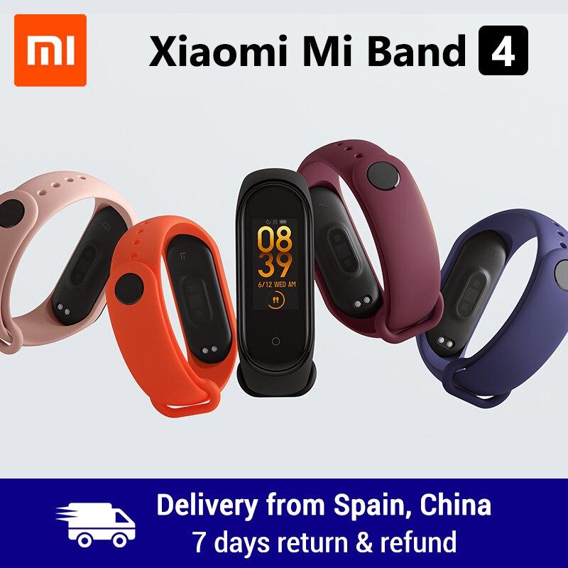 Xiao mi mi Band 4 Smart Band 0,95 zoll AMOLED 120X240 Volle Farbe Screen Bluetooth 5,0 Armband 50m Wasserdicht Smart Armband
