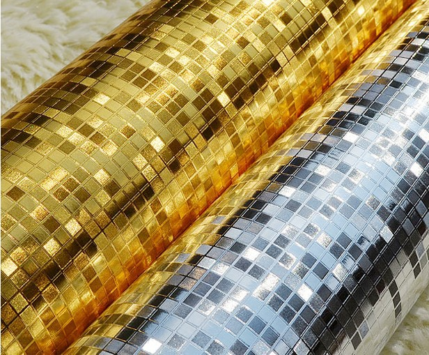Super Modern Luxury Gold Foil Wallpaper Roll Papel De Parede Ouro E Prata  Luminous  Wedding Decor  Papel De Parede Ouro Glitter