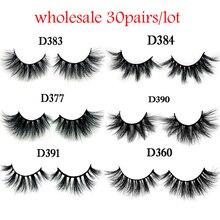 New arrivals wholesale lashes plastic box 30pairs/lot mink fur eyelashes Handmade Lashes cruelty free mink lashes