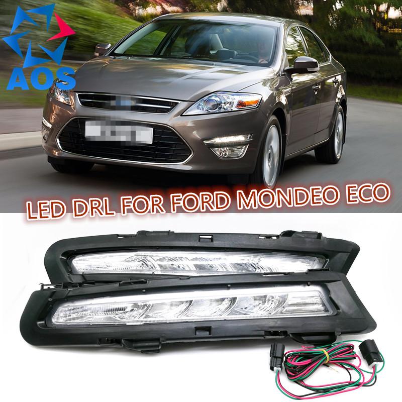 2PCs/set LED DRL Daylight Car Daytime Running lights drl fog lamp For Ford Mondeo 2X Eco 2011 2012 2013 2pcs set waterproof led daylight drl lamp car led daytime running light for volkswagen vw jetta 2014 2015 fog lamp