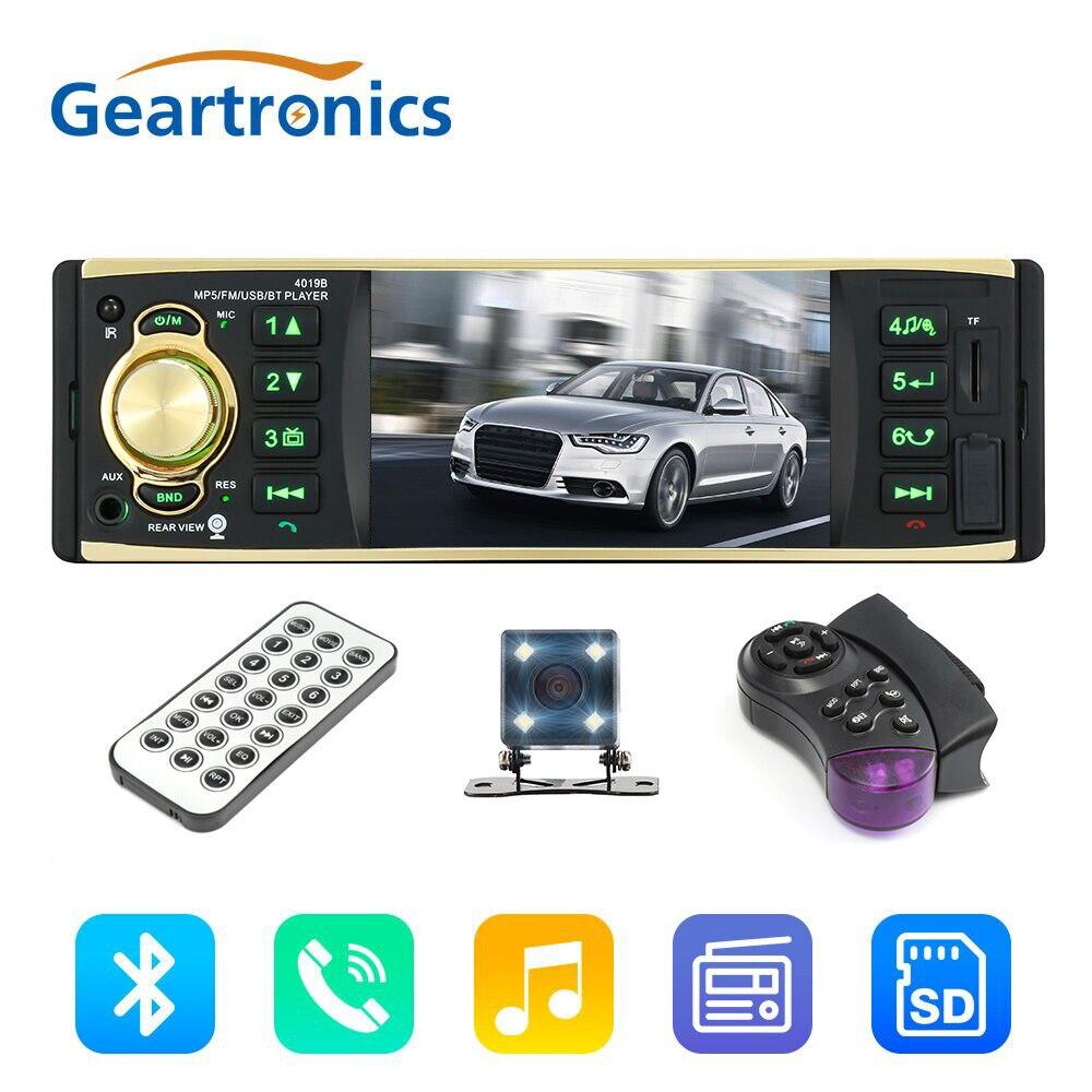 4.1 pouce 1 Din autoradio Audio stéréo 1Din 12 V USB AUX FM Station de Radio Bluetooth avec caméra de recul télécommande voiture Audio