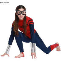 Women Halloween Spiderman Costumes for Female The Avengers Spider man Cosplays Carnival Purim Nightclub Party masked ball dress