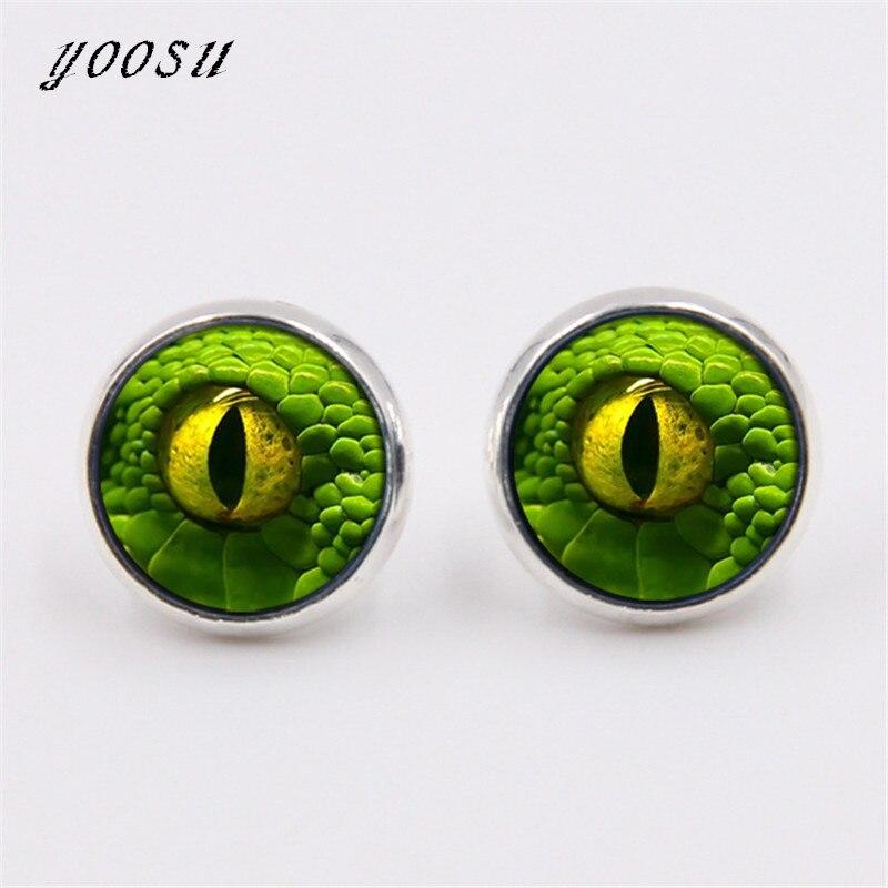 Dragon Eye Stud Earrings Green Blue or Purple Eye Ear Nail Sauron ...