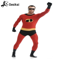 24 Hrs Shipping Out Mens The Incredibles Cosplay Costume High Quality Zentai Suit Mens Superhero Jumpsuit Set Halloween Costumes
