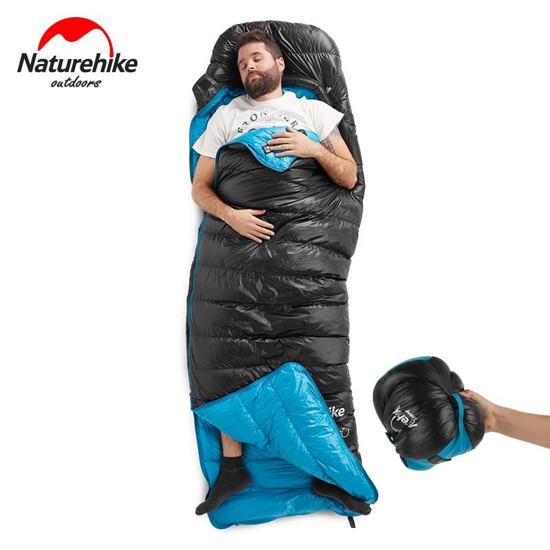 NatureHike NH CW400 Envelope Ultralight Winter Warm Goose Down Sleeping Bag Camping Hiking Sleeping Bag Backpacking