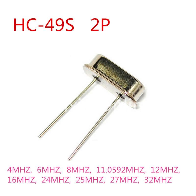 50PCS ST182b Crystal Oscillator HC-49S 2Pin Mini Passive Resonator Quartz 4MHZ 6/8MHZ 11.0592MHZ 12MHZ 16MHZ 24/25MHZ 27/32MHZ vamp 532 xxl