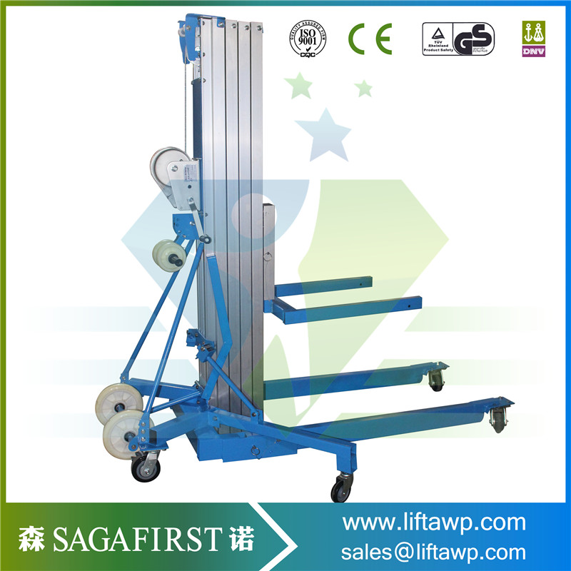 Mobile Electric  Alumnium Lift Platform With Side Wheels
