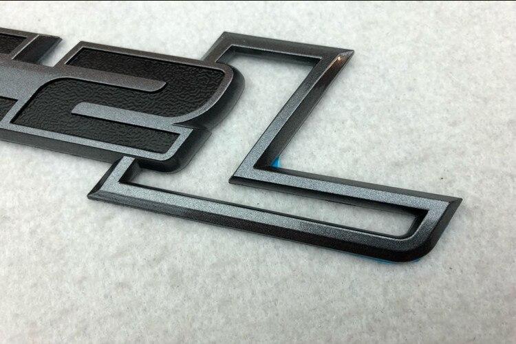 6.2L Logo 3D ABS Car Auto Emblem Badge Decal Sticker Big Size Gray Color