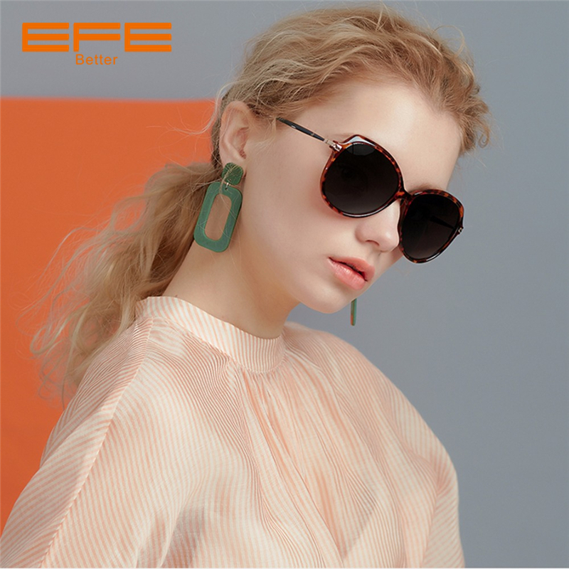 EFE 2018 New Oversize Women Polarized Sunglasses Brand Designer Vintage Shades Fashion Female Sun Glasses gafas de sol mujer