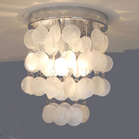 Mediterranean Crystal Shell LED Ceiling Lamp Simple Bedroom Corridor Balcony Coffee Shop Shell Fish Decorative Pendant