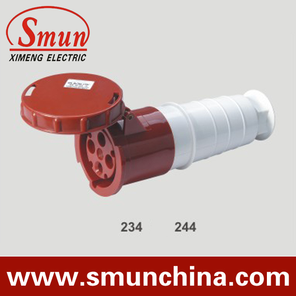 ФОТО 125A 380-415V 3P+E industrial coupler 4pins female connector with CE ROHS 1 year warranty
