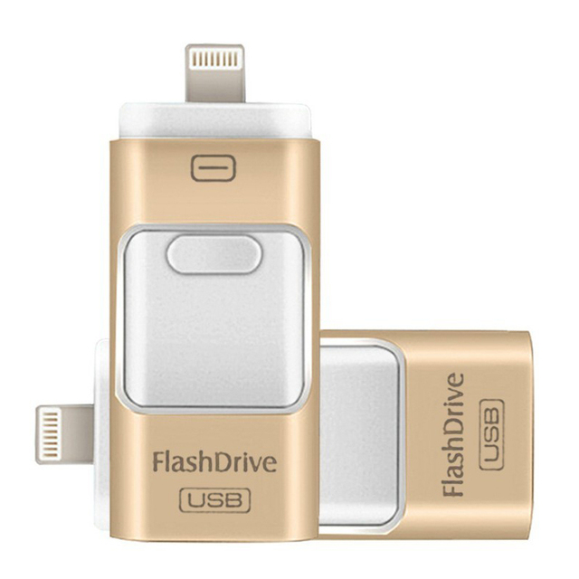 Para ipad iphone 6 6 s plus 5 5S pendrive otg usb flash Drive de 8 GB 16 GB 32 GB 64 GB impulsión de la Pluma de HD de memoria de almacenamiento externo