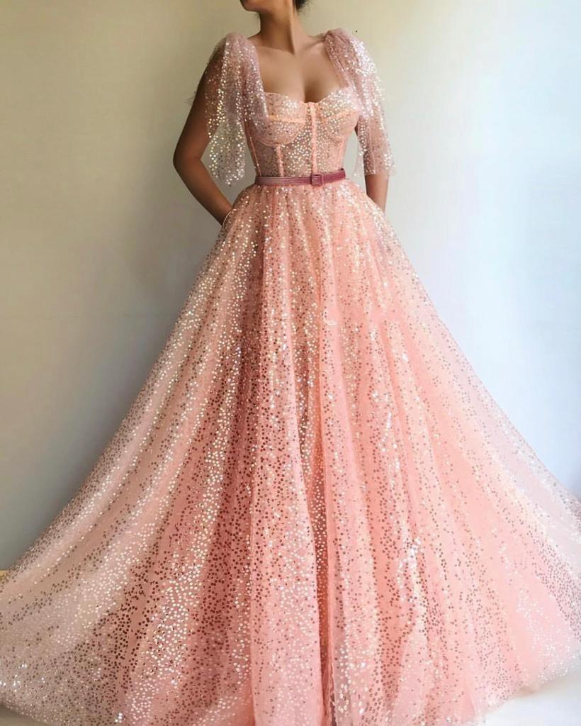 Champagne sereia vestidos de noite 2019 longo