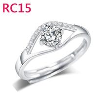 RC15 nuevo llega el anillo para mujer y hombre 6mm ancho 3 filas y 2 filas con piedra grande o no joyería de piedra grande con caja