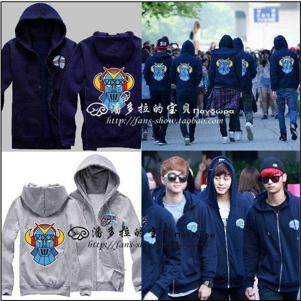 Vixx s tvoice visuel valeur in excelsis vixx logo sweat à capuche un kpop star Le même paragraphe hoodies zipper sweat à capuche