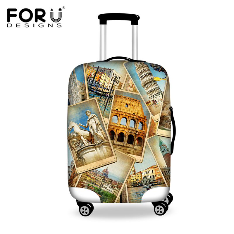 FORUDESIGNS Travel On Road Luggage Cover Protective Suitcase Covers For 18/20/22/24/26/28 Inch Trolley Suitcase Anti-dust Cover