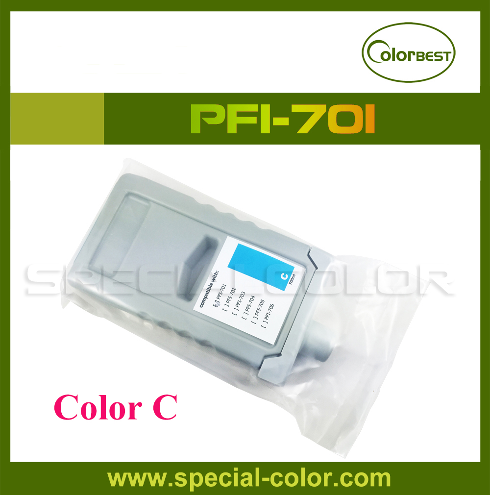 [with chip] IPF8000/8100/9000/9100 Pigment Ink Cartridge PFI-701 Ink Tank Color Cyan wholesale 1pc original gongzheng inkjet printer ink tank black color uv ink tank gongzheng ink cartridge