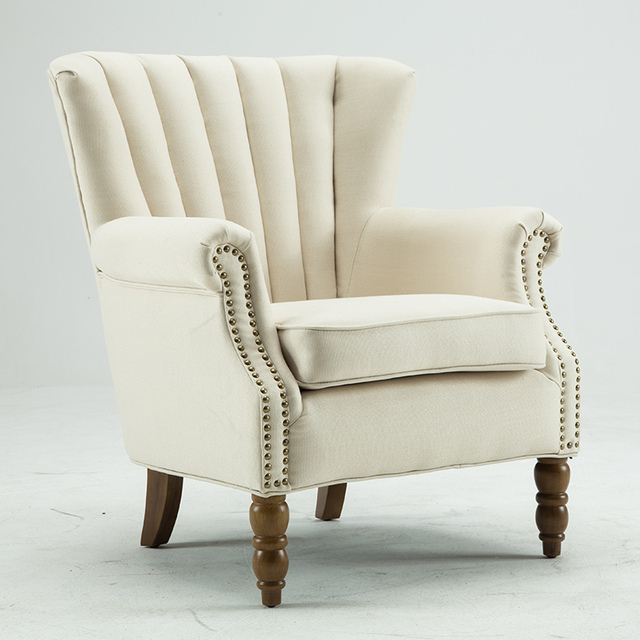 accent wingback chairs hire chair covers belfast modern with nail heads flared arm home living room furniture single sofa armchair fabric