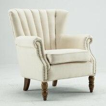 Moderne Außenverteidiger Akzent Stuhl Mit Nagelköpfe Ausgestelltes Arm  Hause Wohnzimmer Möbel Einzel Sofa Sessel Stoff Accent