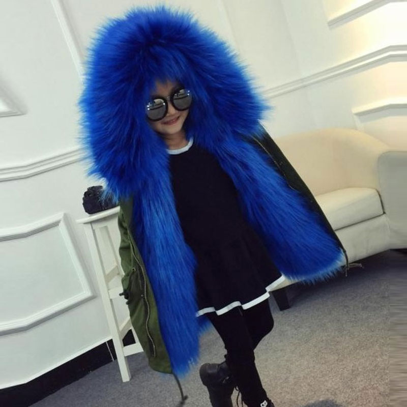 Child Girls Faux Fur Winter Autumn Hooded Jackets for Baby Girl Warm Windbreaker Outerwear Sport Coats Fashion Kids Cloth 2-10T fashion girls fur coats 2017 new baby girls pu leather faux fox fur motorcycle jackets winter warm kids outerwear coats
