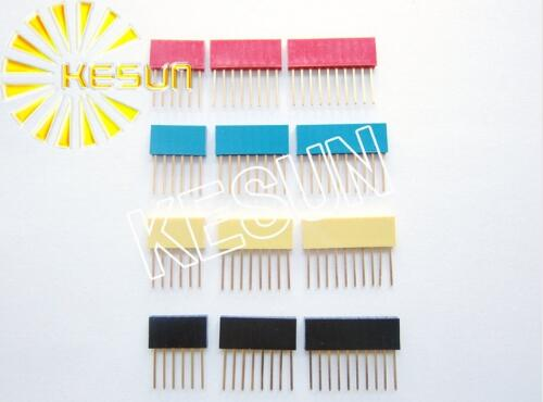 10pcs x 4Pin 6Pin 8Pin 10Pin 11mm 15mm Red Blue Yellow PC104 Female <font><b>Pin</b></font> <font><b>Header</b></font> Strip <font><b>Stackable</b></font> <font><b>Header</b></font> Connector image