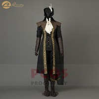Game Bloodborne heroine Maria retro Cosplay Halloween Vintage Costume Women feather hat Cloak embroidery cos set mp004007