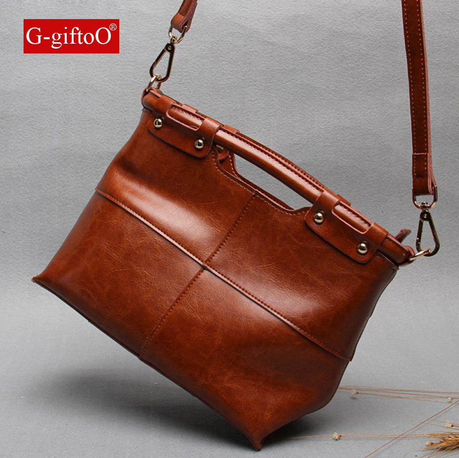 100% Real Genuine Leather OL Style Women Handbag Tote Bag Ladies Shoulder Bags Wholesale price