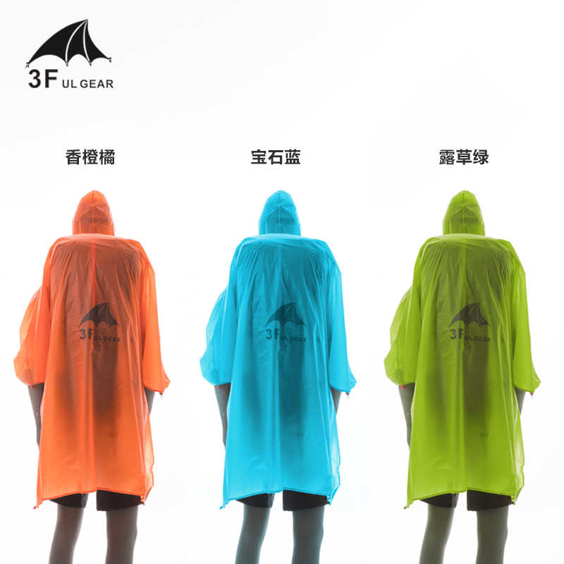 3F UL Engrenagem 3 em 1 Versátil Estilo Manga Protetor Solar-Costura selada À Prova D' Água Pendurado Lona capa de Chuva Groundsheet Shelter