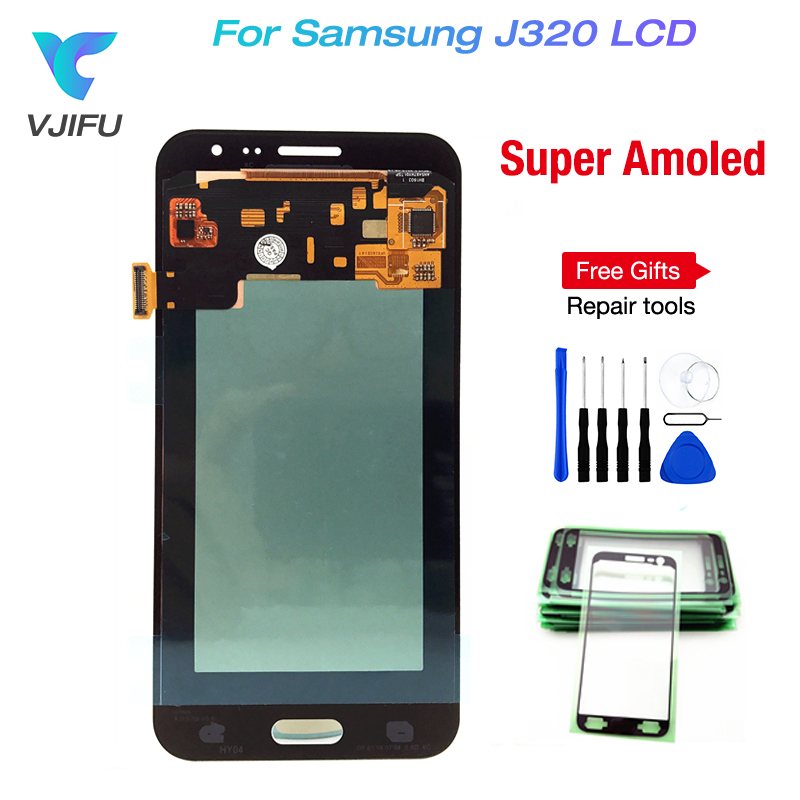 100% Super AMOLED LCD For Samsung Galaxy J3 2016 J320 J320F J320H J320M J320FN LCDs Display With Touch Screen Digitizer Assembly100% Super AMOLED LCD For Samsung Galaxy J3 2016 J320 J320F J320H J320M J320FN LCDs Display With Touch Screen Digitizer Assembly