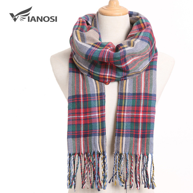 [VIANOSI] Winter Women Scarf Brand Foulard Plaid Scarves Fashion Casual Poncho Scarfs Luxury Bufandas 5