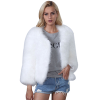 2017 Fashion bontjas imitatie bontjas rijstmeel Herfst en winter nieuwe vrouwen jas houden warme Jassen hoge kwaliteit plus size