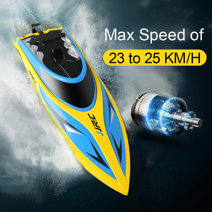 JJRC S1 S2 S3 RC Boat Speedboat 2.4GHz 2CH Portable Mini Remote Control Ship Self-Righting High Speed 25km/h Toy for Children rcf du 50en
