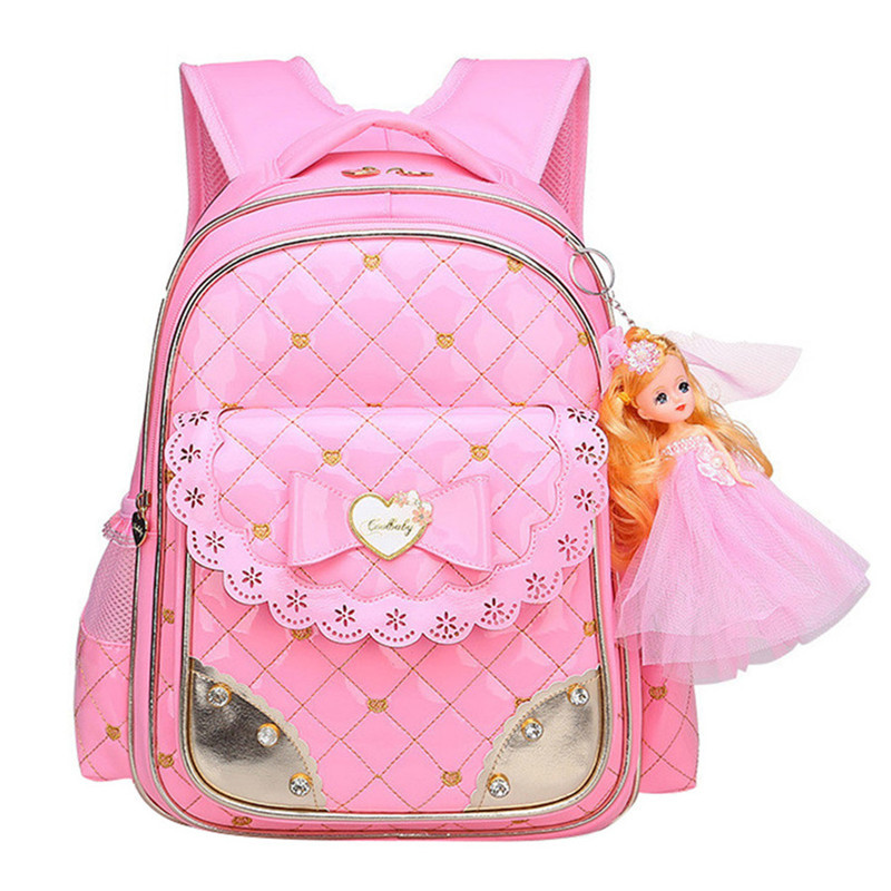 Fashion Girl Schoolbag Cute School Backpack Orthopedic School Bags For Girls Korean Style Student Bag Girl Pink Leather Backpack