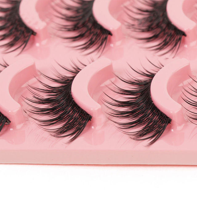 5 Pairs Women Makeup Thick Long False Eyelashes  Long Black Nautral Handmade Eye Lashes Makeup Beauty Tools Accessories False Eyelashes