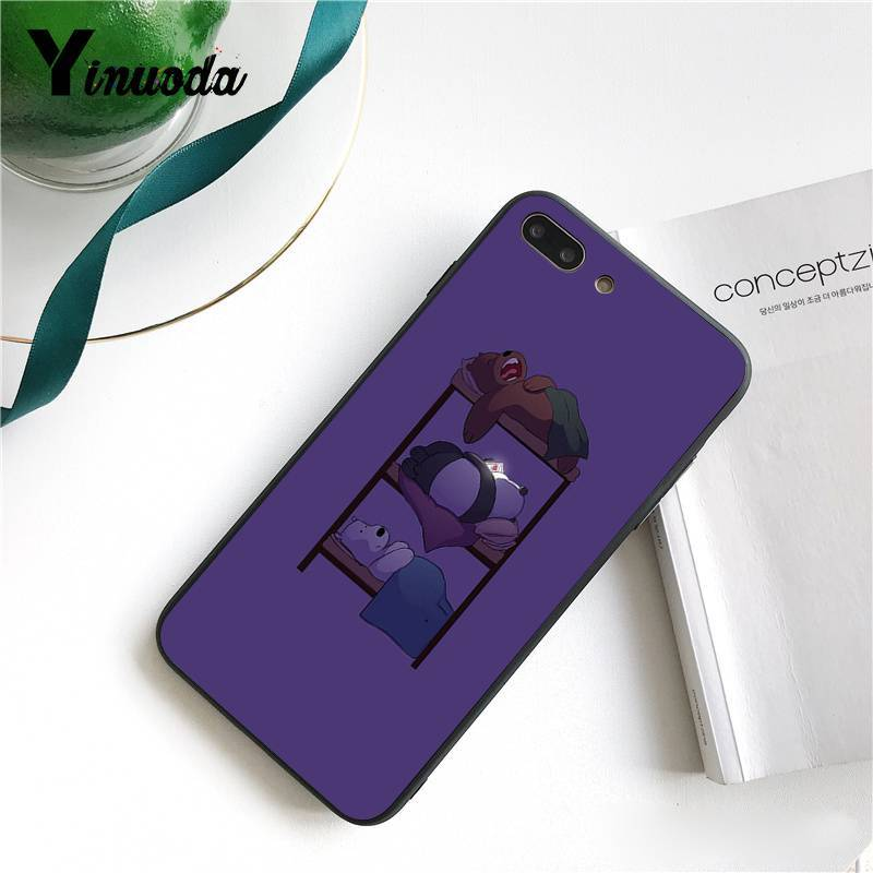 Yinuoda Lovely Cartoon We Bare Bears Luxury Unique Design PhoneCase for iPhone 8 7 6 6S 6Plus X XS MAX 5 5S SE XR 10 Cover