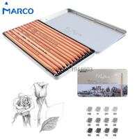 12Pcs/Box Marco 3H-9B Soft Safe non-toxic Sketching pencils Professionals Drawing Office School Pencil for Kid Gift