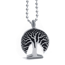Carved Tree of Life Urn Necklace