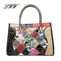 Panelled Colorful Ladies Genuine Leather Bags Luxury Handbags Women Bags Designer Women Shoulder Bag with High-grde Handle
