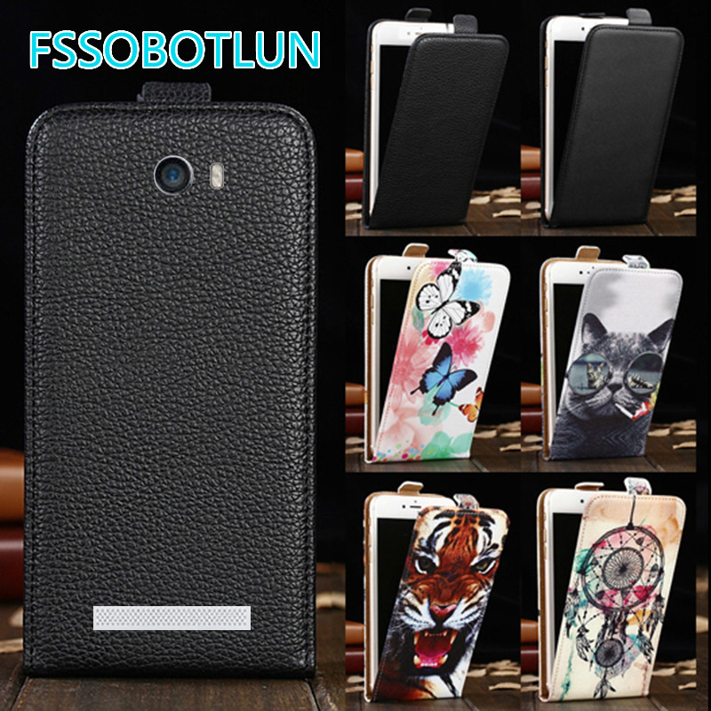 Factory direct! For Fly IQ4505 ERA Life 7 Quad Luxury Cartoon Painting vertical phone cover bag flip up and down PU Leather Case