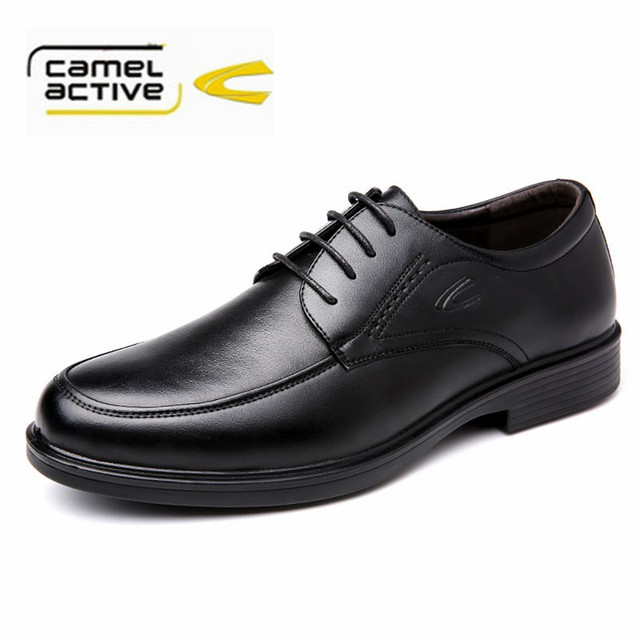 Camel active Genuine Leather Men Dress Shoes Men Business Shoes Lace Up Men  Men Oxfords Wedding