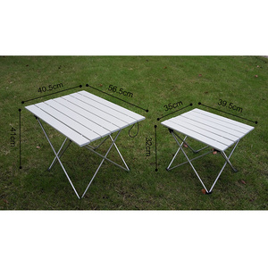 Image 5 - Portable Table Foldable Folding Camping Hiking Desk Traveling Outdoor Picnic New Blue Gray Pink Black Al Alloy Ultra light S L