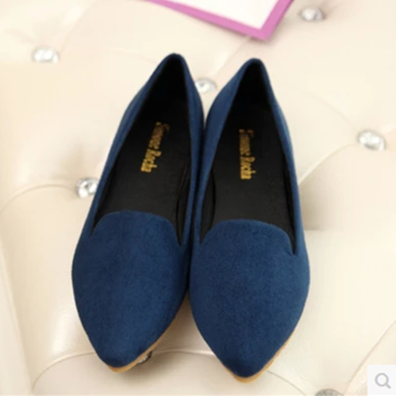 Lady's Cheap Plain Flock Plus size 43 44 Pointed toe Single Low Cutter Women Pregnant Boat Shoes On Platform Slip-On Pink Black lady glitter high fashion designer brand bow soft flock plus size 43 leisure pointed toe flats square heels single shoes slip on